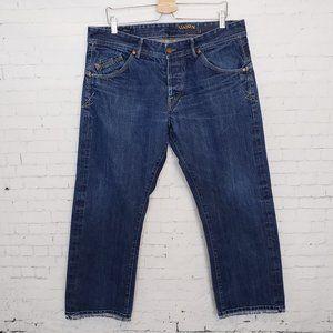Union Red Line Selvedge Jeans 36 x 28 Dark Wash